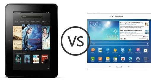 amazon kindle fire hd vs samsung galaxy tab 3 10 1 p5200   phone