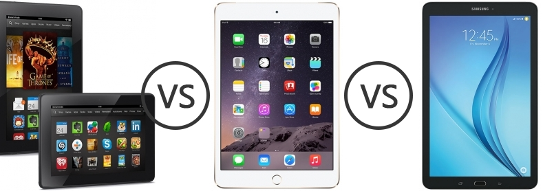 Apple Ipad Vs Kindle: Amazon Kindle Fire HDX Vs Apple IPad Mini 3 Vs Samsung