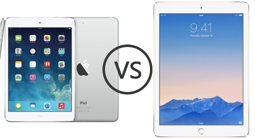 Apple iPad mini 2 Retina Display vs Apple iPad Air 2 ...