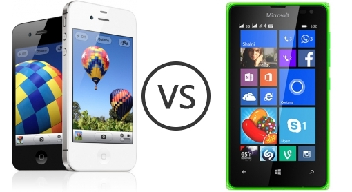 Apple iPhone 4S vs Microsoft Lumia 532 Dual SIM - Phone ...