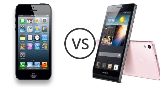 Apple iPhone 5 vs Huawei Ascend P6 - Phone Comparison