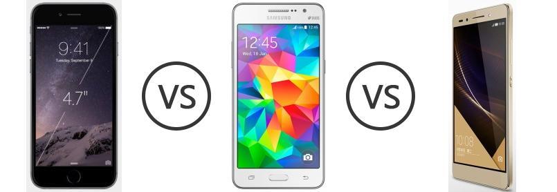 Samsung Galaxy Grand Prime Vs Iphone 6