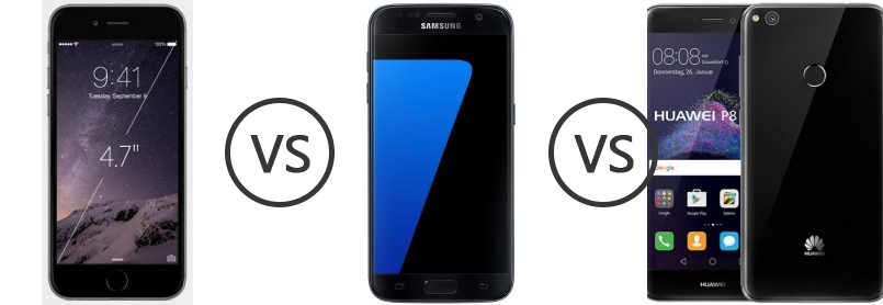huawei p8 lite vs iphone 6. apple iphone 6 vs samsung galaxy s7 huawei p8 lite (2017) - phone comparison iphone