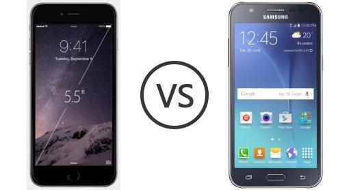 iphone 5 plus vs samsung galaxy j7gold
