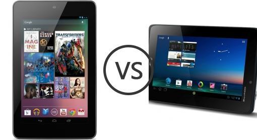 Asus Google Nexus 7 vs Acer Iconia Tab A110