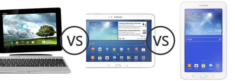 asus transformer pad tf300t vs samsung galaxy tab 3 10 1 p5210 vs samsung galaxy tab 3 7 0 lite. Black Bedroom Furniture Sets. Home Design Ideas