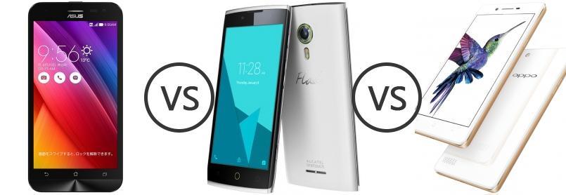 Asus Zenfone 2 Laser 55 Vs Alcatel Flash 2 Vs Oppo Neo 7