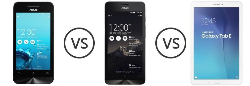 Asus Zenfone 4 Vs Asus Zenfone C ZC451CG Vs Samsung Galaxy