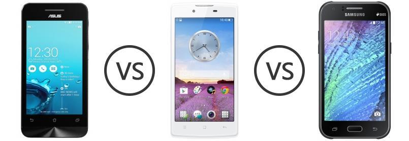 Asus Zenfone 4 Vs OPPO Neo R831K Vs Samsung Galaxy J1 4G
