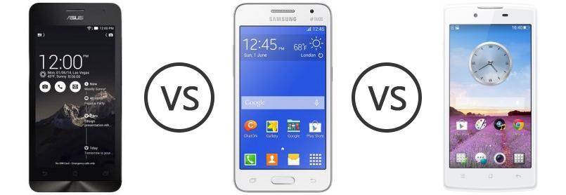 Asus Zenfone 5 Vs Samsung Galaxy Core 2 Duos Vs OPPO Neo