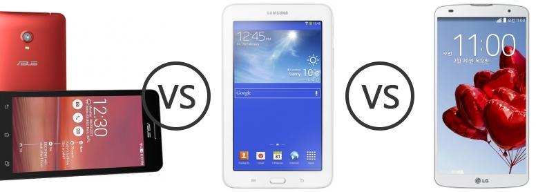 Asus zenfone 6 vs samsung galaxy tab 3 7 0 lite 3g vs lg g pro 2 phone comparison - Samsung galaxy tab 3 vs tab 3 lite ...
