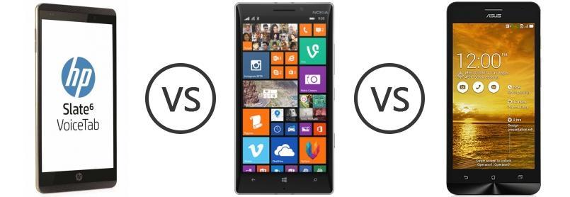 HP Slate6 VoiceTab Vs Nokia Lumia 930 Asus Zenfone 5 Lite A502CG