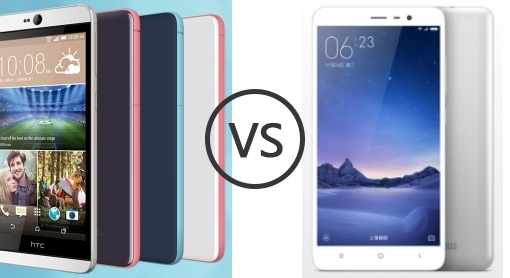 HTC Desire 826 vs Xiaomi Redmi Note 3 (MediaTek) - Phone