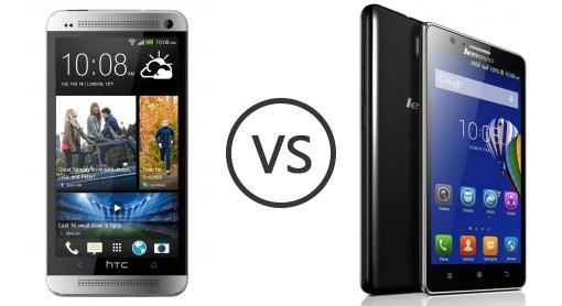 Htc one vs lenovo a536 phone comparison