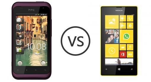so sánh Lumia 520 và HTC Rhyme