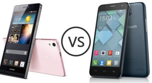 Huawei Ascend P6 vs Alcatel One Touch Idol Mini - Phone Comparison