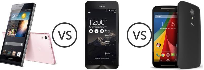 Huawei Ascend P6 vs Asus Zenfone 5 vs Motorola Moto G 4G (Gen 2 ...