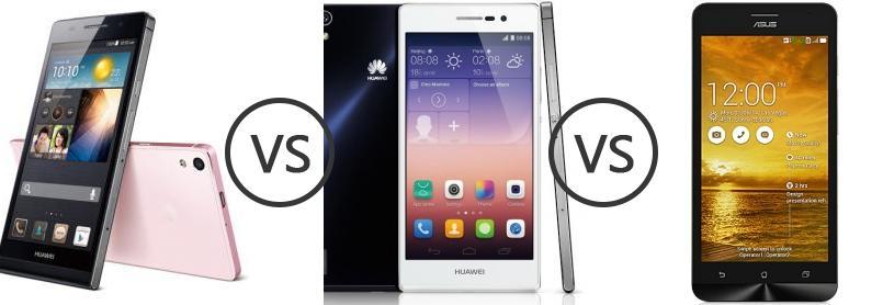Huawei Ascend P6 vs Huawei Ascend P7 vs Asus Zenfone 5 Lite A502CG ...