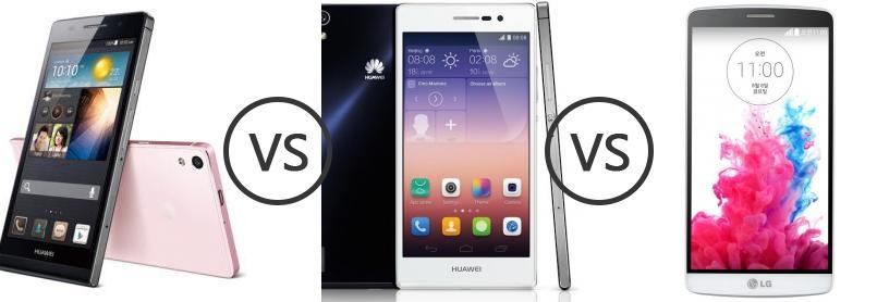 Huawei Ascend P6 vs Huawei Ascend P7 vs LG G3 A - Phone ...