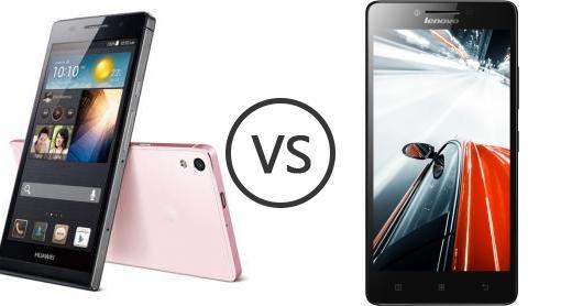 Huawei Ascend P6 vs Lenovo A6000 Plus - Phone Comparison