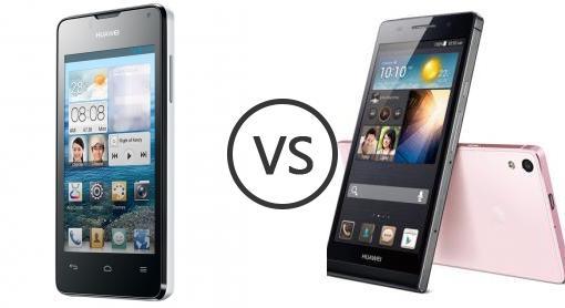 Huawei Ascend Y300 vs Huawei Ascend P6 - Phone Comparison