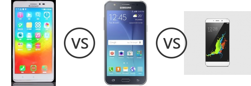 Lenovo Golden Warrior Note 8 vs Samsung Galaxy J7 vs Coolpad