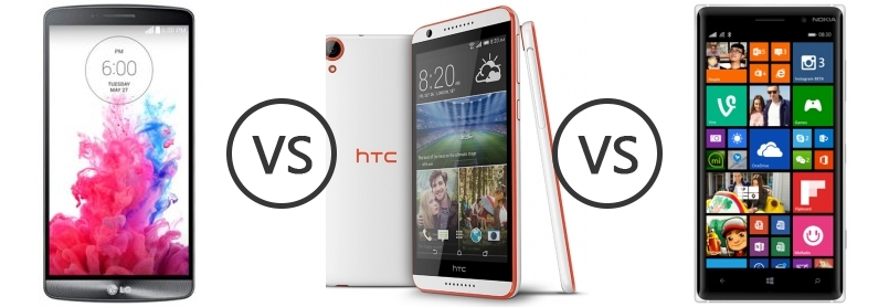 within htc desire 820 vs lg g3 comes the door