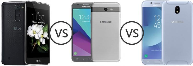 LG K7 vs Samsung Galaxy J3 Emerge vs Samsung Galaxy J7 (2017