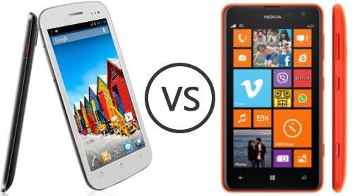 Micromax a110q canvas 2 plus vs nokia lumia 625 phone comparison