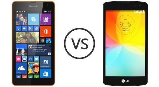 Microsoft Lumia 535 Vs LG G2 Lite