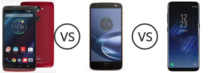Motorola DROID Turbo vs Motorola Moto Z Force vs Samsung Galaxy S8 ... | Best image of Moto Z Force Vs Samsung S8
