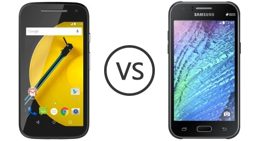 compare phones motorola moto e ()  vs samsung galaxy j ace