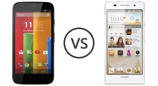Motorola Moto G vs Huawei Ascend P6 S - Phone Comparison
