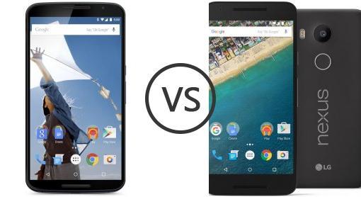 Motorola Nexus 6 vs LG Nexus 5X