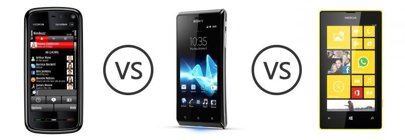 sony xperia j vs lumia 710