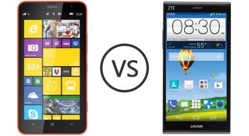 Zte grand x max vs nokia lumia 1320
