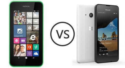 nokia lumia 530 vs microsoft lumia 550   phone comparison