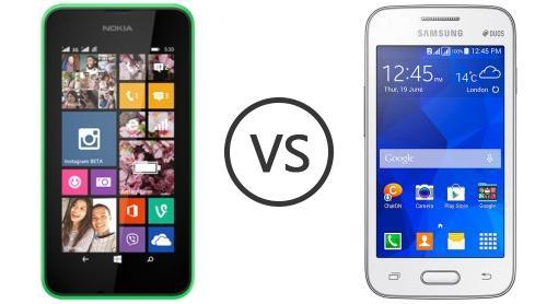 Nokia Lumia 1625 Nokia Lumia 530 Dual Sim vs