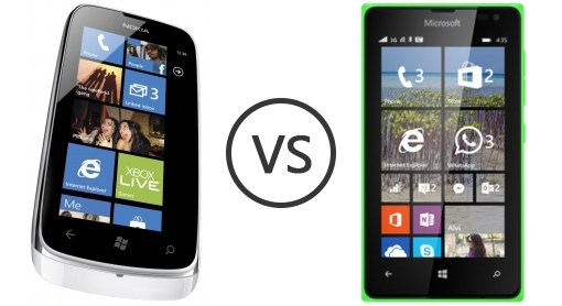 Nokia Lumia 610 vs Microsoft Lumia 435 - Phone Comparison