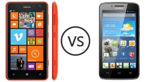 Nokia Lumia 625 vs Huawei Ascend Y511 - Phone Comparison