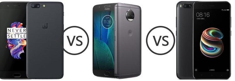 5c1435c3e9c OnePlus 5 vs Motorola Moto G5S Plus vs Xiaomi Mi A1 - Phone Comparison