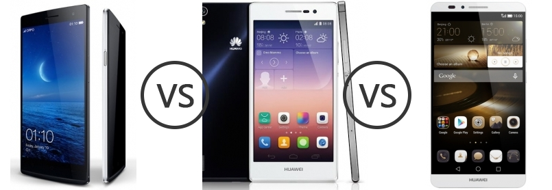 Oppo Find 7 Qhd 1431 Vs Huawei Ascend P7 1490 Vs Huawei Ascend Mate7 1...