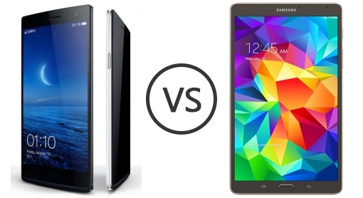 Oppo Find 7 Qhd 1431 Vs Samsung Galaxy Tab S 8