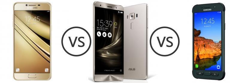Samsung Galaxy C7 Vs Asus Zenfone 3 Deluxe Vs Samsung
