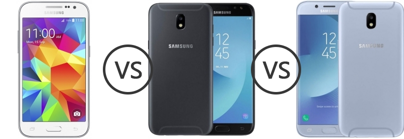 Samsung Galaxy Core Prime vs Samsung Galaxy J5 (2017) vs