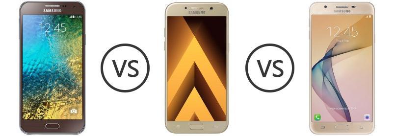 Samsung Galaxy E5 Vs Samsung Galaxy A3 2017 Vs Samsung