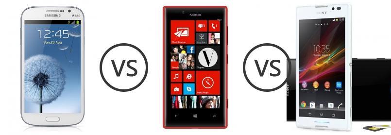 Samsung Galaxy Grand Duos I9082 vs Nokia Lumia 720 vs Sony Xperia C ...