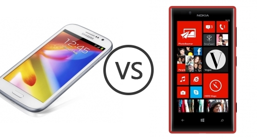 Samsung Galaxy Grand I9080 vs Nokia Lumia 720 - Phone Comparison