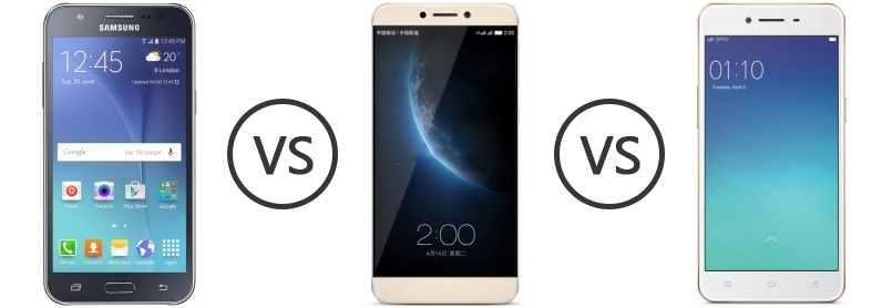 Samsung Galaxy J7 vs LeEco (LeTV) Le 1s vs Oppo A37 - Phone Comparison