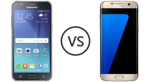 samsung galaxy j7 vs samsung galaxy s7 edge   phone comparison